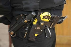 how far can a police taser shoot