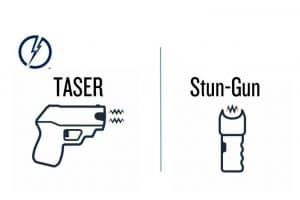 what is the difference between a taser and a stun gun